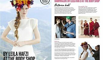 Leila Hafzi samarbeider med The Body Shop