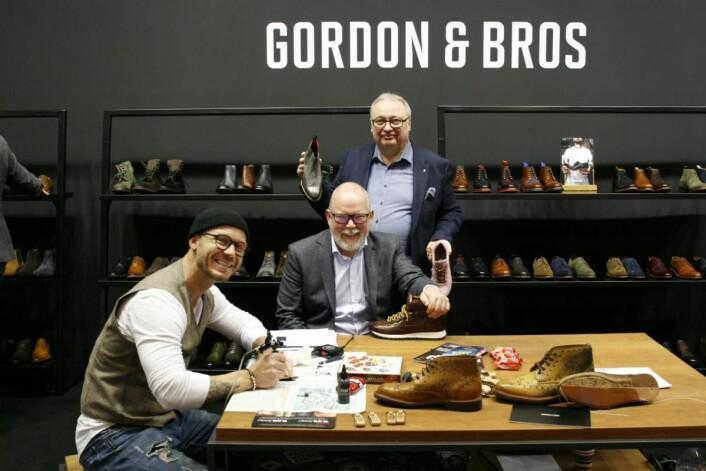Martin Kjellman og Flemming Lund har hittil bare hatt herremerker, men utvider nå med en kolleksjon med damesko fra Gordon & Bros.