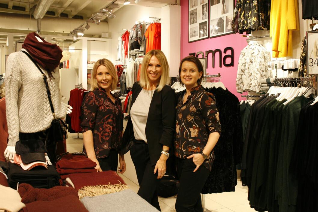 Et godt team. Christin Vådal, assisterende butikksjef, Kristin B. Pallesgaard og Raquel Sofie Langvannskåsa