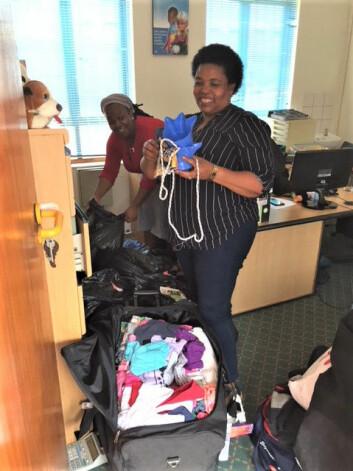 Klær og utstyr kommer godt med på barnehjemmet