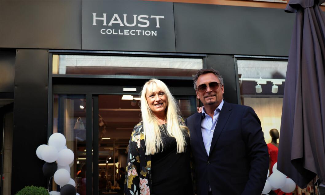 Janne og Kristoffer Haust er godt fornøyd med den nye flaggskipbutikken i Nedre Slottsgate