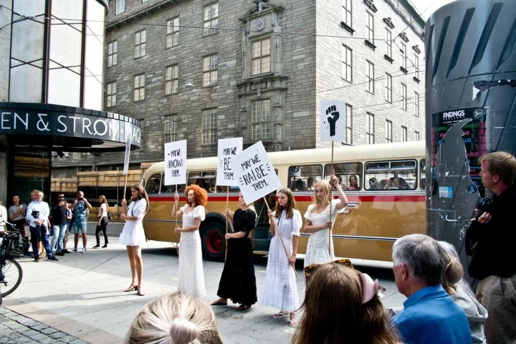 «Pia Tjelta presented by Promenaden Fashion District» var en hyllest til alle mødre.Foto: Julie Opsvik