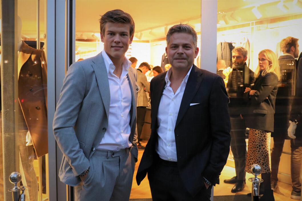 Johannes Høstflot Klæboe trives godt i Frislid-dress, noe salgs- og markedssjef Gisle Strøm er godt fornøyd med.