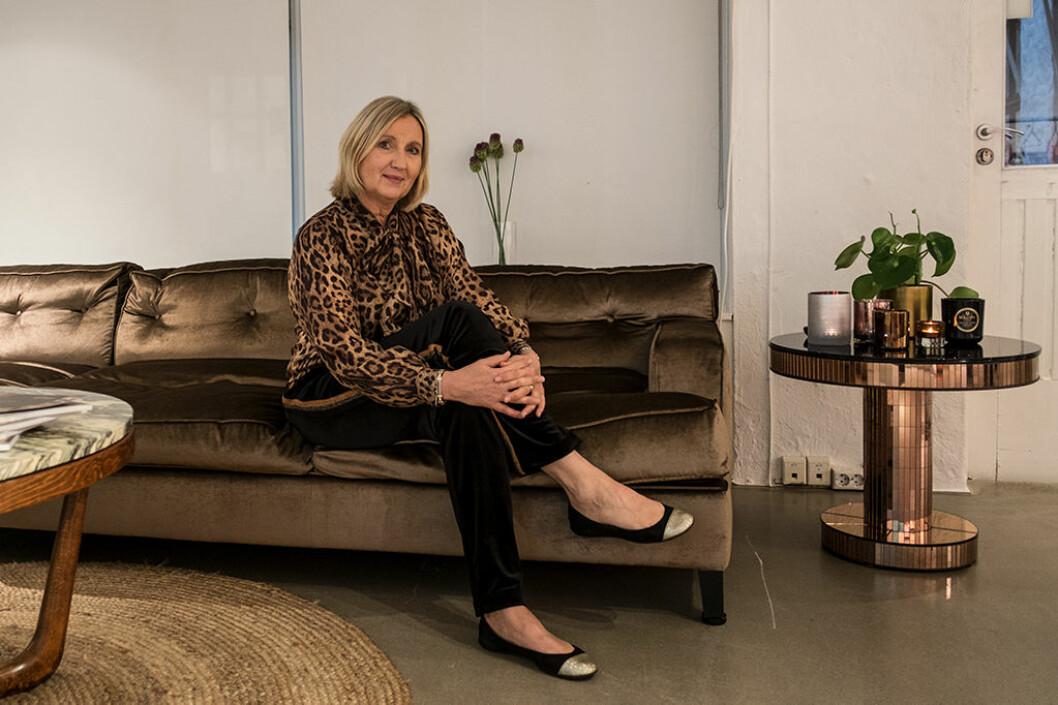 Mette Katrine Kaldhussæter har jobbet som designer i 27 år, men hadde sitt første presseevent denne uken.