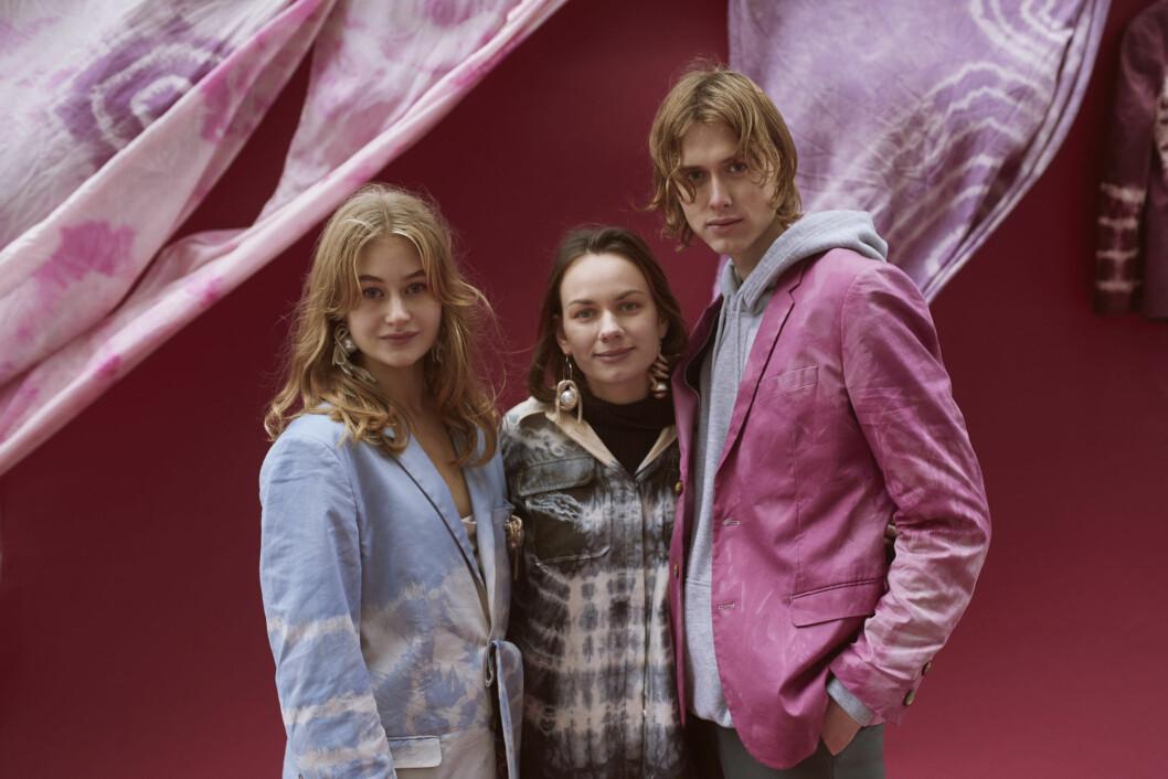 Cathrine Børter i FWSS er en av de norske designerne som har redesignet H&M-klær til åpningen av flaggskipbutikken på Karl Johan. Foto: H&M