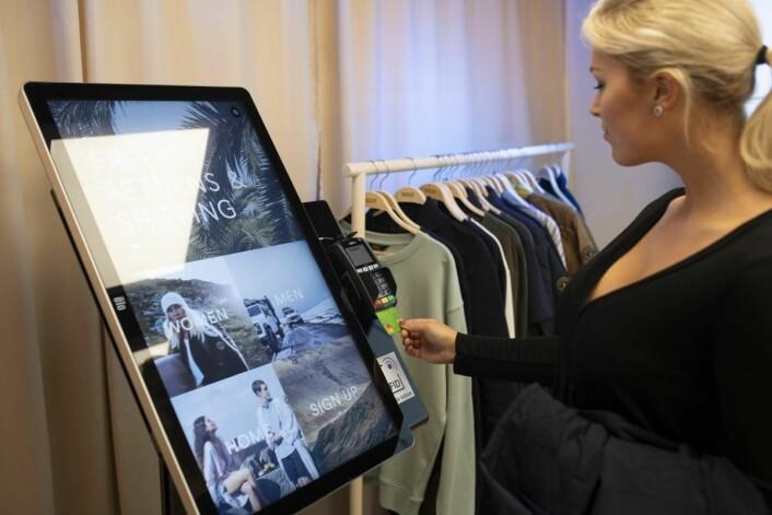 Kundene bestilte vaqrene på en interaktiv touchskjerm
