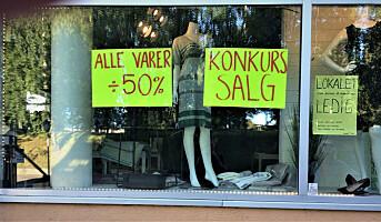 Flest konkurser i varehandelen