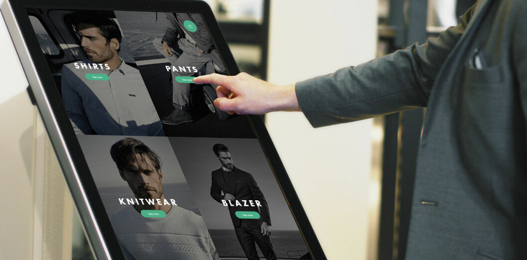 Interaktive storskjermer i butikkene gjør det enklere for kundene og gir butikkmedarbedierne et nytt, kraftfullt salgsverktøy. (Foto: Wagner)