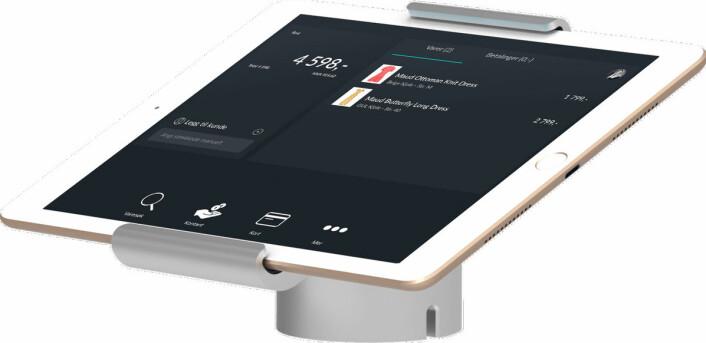 iPad-kassen har et enkelt brukergrensesnitt