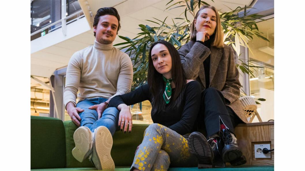 Tre av teamet bak Stilyagi. Gloria Vitaly, Karen E. Koller og Christian Farinetti.