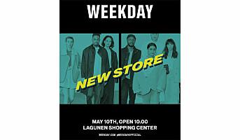 Ny Weekday-butikk  i Bergen