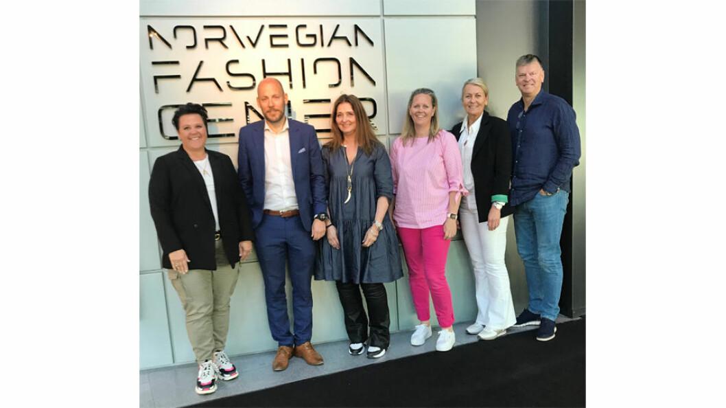 Det nye styret i Norwegian Fashion Center: Fra venstre Anita Engebråten, Henrik Renner Fredriksen, Mette Bergstøl, Jannicke Skjoldhammer-Jansen, Jannike Moe og Henning Hexeberg.