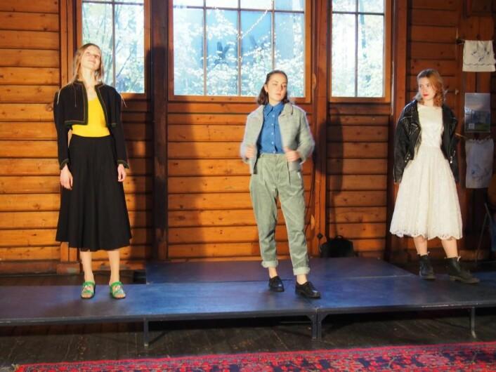 Fra Norsk Folkemuseums visning med vintage klær under Tekstilenes hemmelige verden, hvor klær fra forskjellige epoker som<br />avslutning ble blandet og fikk en moderne styling.&nbsp;