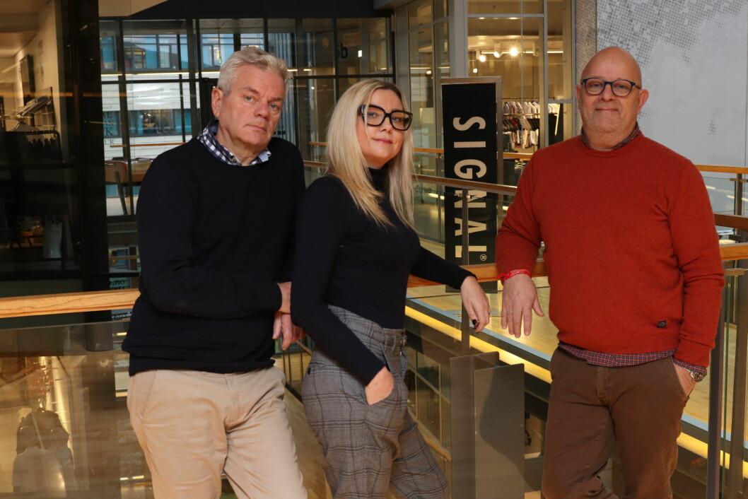 Trioen som skal selge Signal: Henning Marceliussen, Randi Evensen og Olav Herheim