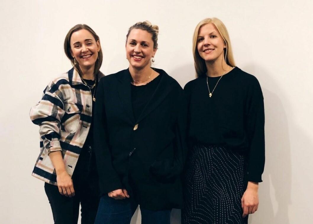 Elisabeth Stray Pedersen (t.h.) samarbeider med Charlotte Fische og Gunhild Hasla i Paris