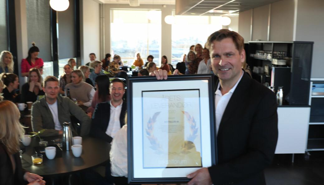 Øyvind Hauge, adm. direktør i Bestseller, kunne ta mot prisen som årets leverandør 2020