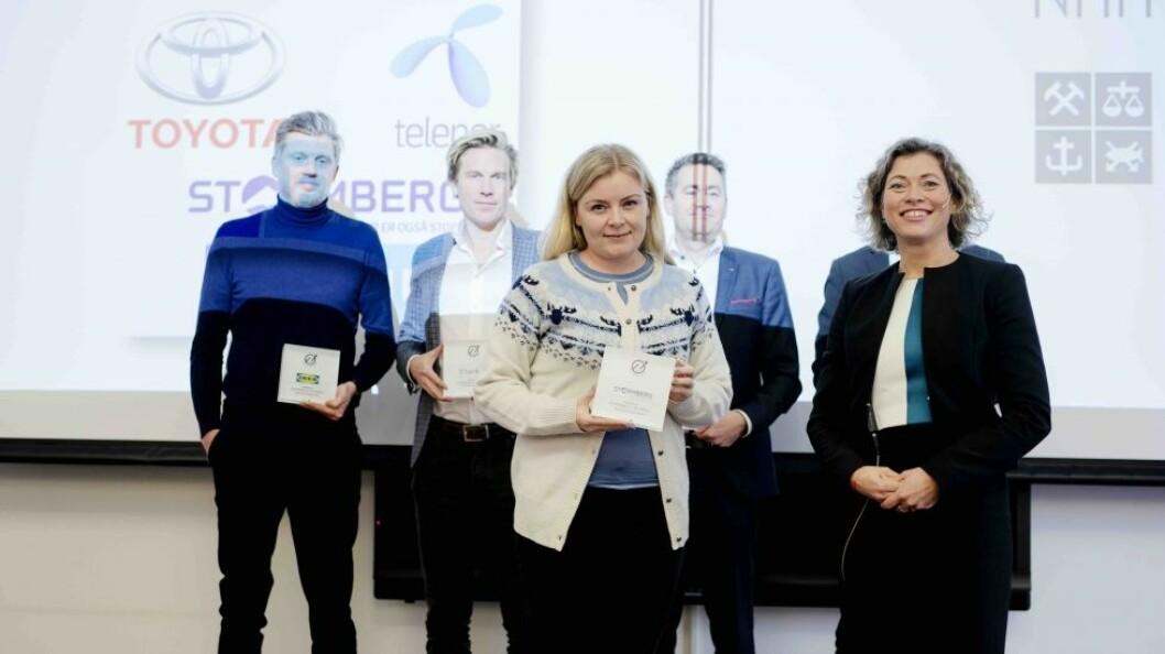 Daglig leder i Stormberg, Hege Nilsen Ekberg tok mot prisen som viser at bedriften er best på sosial innovasjon.