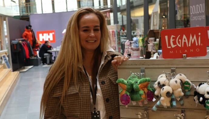 Camilla Smith var en av pop up-utstillerne på Fornebu