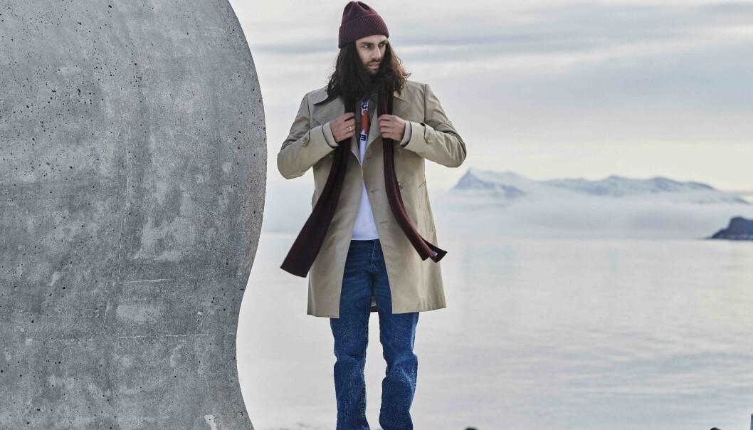 Skjerf og luer med arktisk inspirasjon
