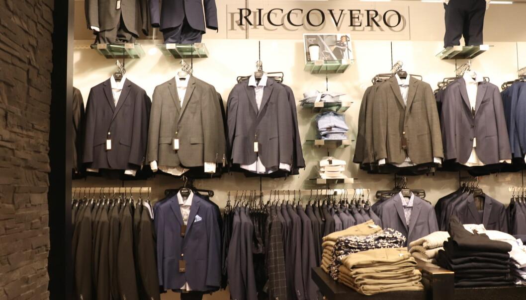 Mange norske herrebutikker har hatt Riccovero som sitt største konfeksjonsmerke