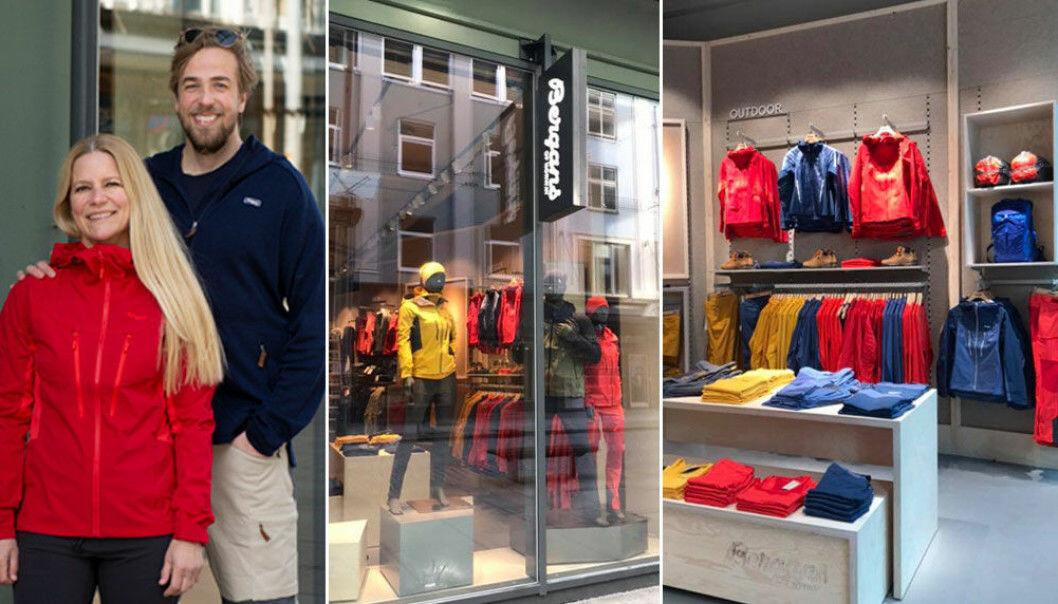 Retail director Anett Kolstad og butikksjef Jørgen Marchman-Jensen har et dilemma når Bergans lørdag åpner butikk i Bergen: Å friste kunder med gode åpningstilbud samtidig som de skal sikre at ikke for mange samler seg i butikken samtidig.