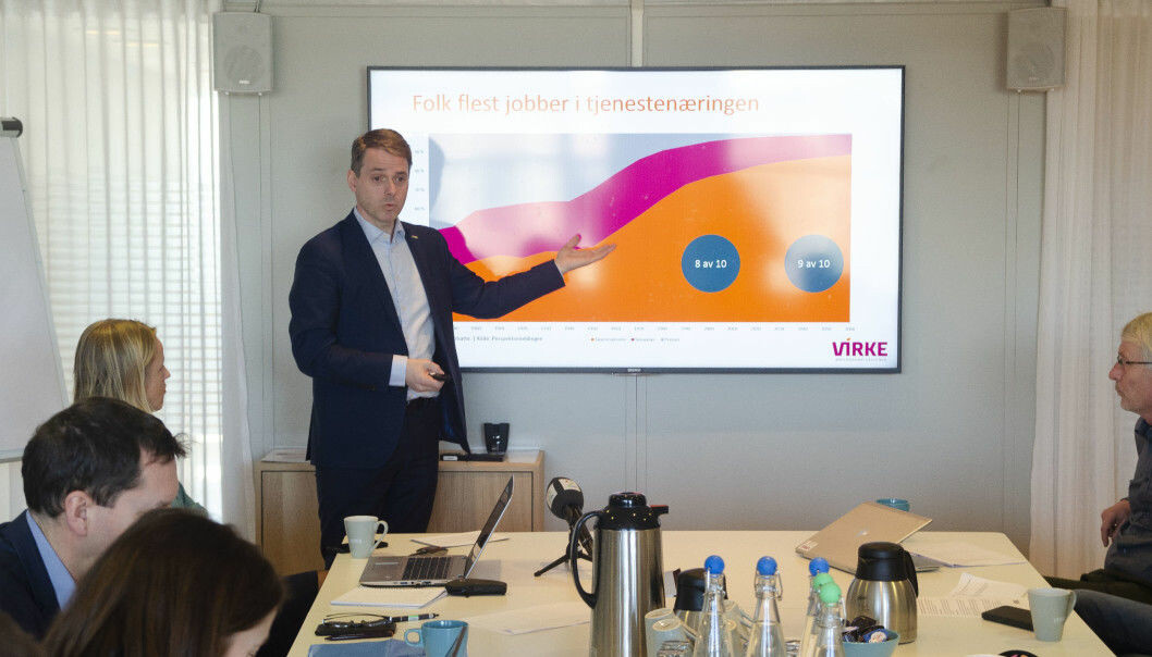 – Det er for tidlig å skru av respiratoren, fordi det er fortsatt et stort behov for politiske hjelpetiltak, som lønnstilskudd og utvidelse av permitteringsreglene til 52 uker, sier Ivar Horneland Kristensen, administrerende direktør i Virke.