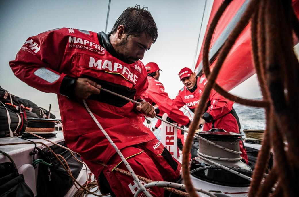 Helly Hansen utstyrte Team MAPFRE i 2017-18 utgaven av regattaen ©Jen Edney/Volvo AB