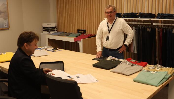 Geir Håkonsløkken og Texcon er på plass i nye lokaler i fjerde etasje i Moteforum. Showrommet er levert av Bjørn Haug AS Ecofushion