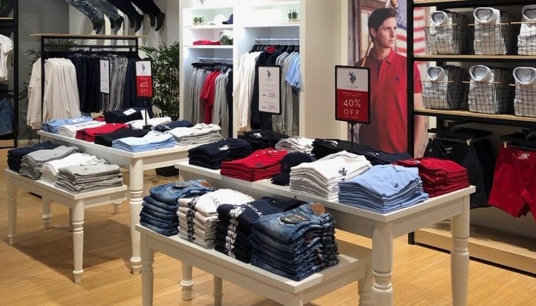 God start for U.S. Polo brand stores.