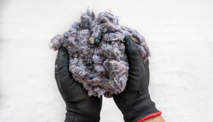 Eksempel på resirkulert tekstilfiber