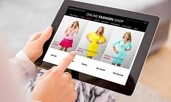 Kraftig økning i salg av klær og sko på nett