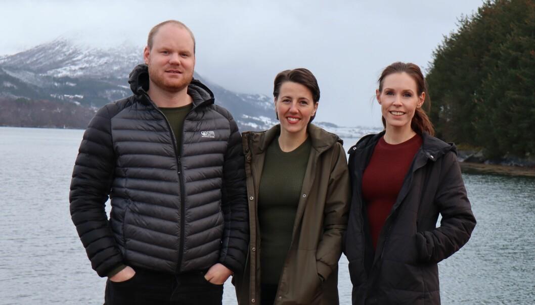 Markedsteamet gjorde helomvending og skapte nettsuksess av avlyst høstfest. F.v. Frank Skjelland, Solveig Råmkes, Cathrine Sæternes