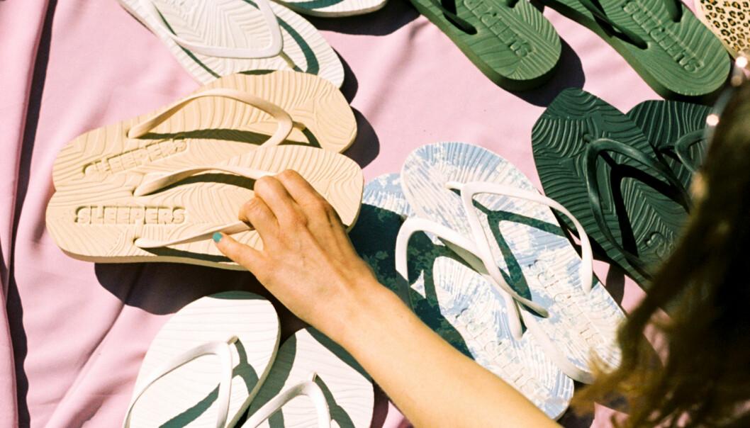 Det nye norske merket Sleepers er ett av skomerkene som vises på Fornebu