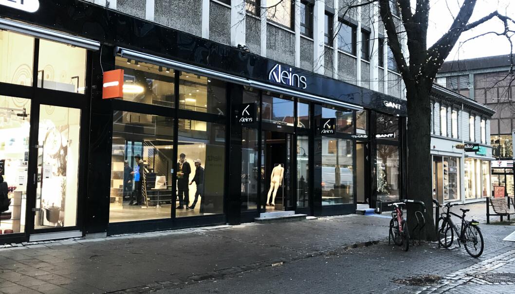 Ny Bergans-butikk i Nordre gate, midt i Trondheim sentrum