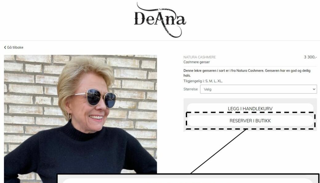 Anne Bakken har drevet De Ana på Vinderen i 20 år. Nå løftes salget med «Reserver i butikk», koblet direkte til poster på sosiale medier, uten en tradisjonell nettbutikk.