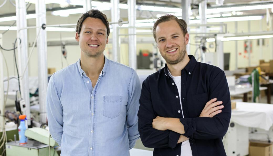 Gründere med suksess: Kristoffer Liabø og Martin Steffensen