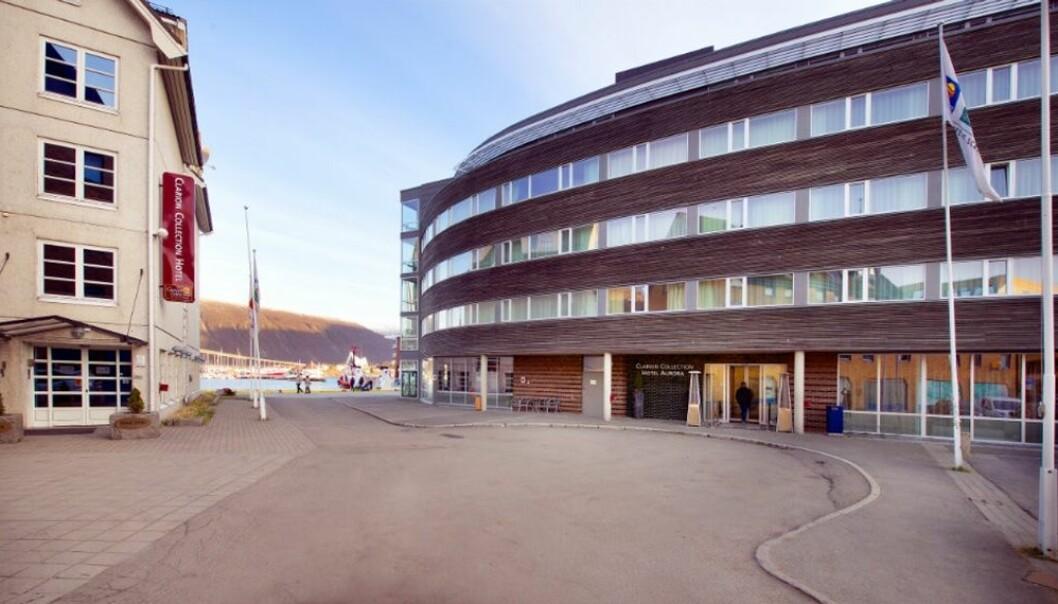 Ikke minimesse, men kunder med forhåndsavtale kan møte noen av sine leverandører på Clarion Aurora Hotel i Tromsø.Click to add image caption