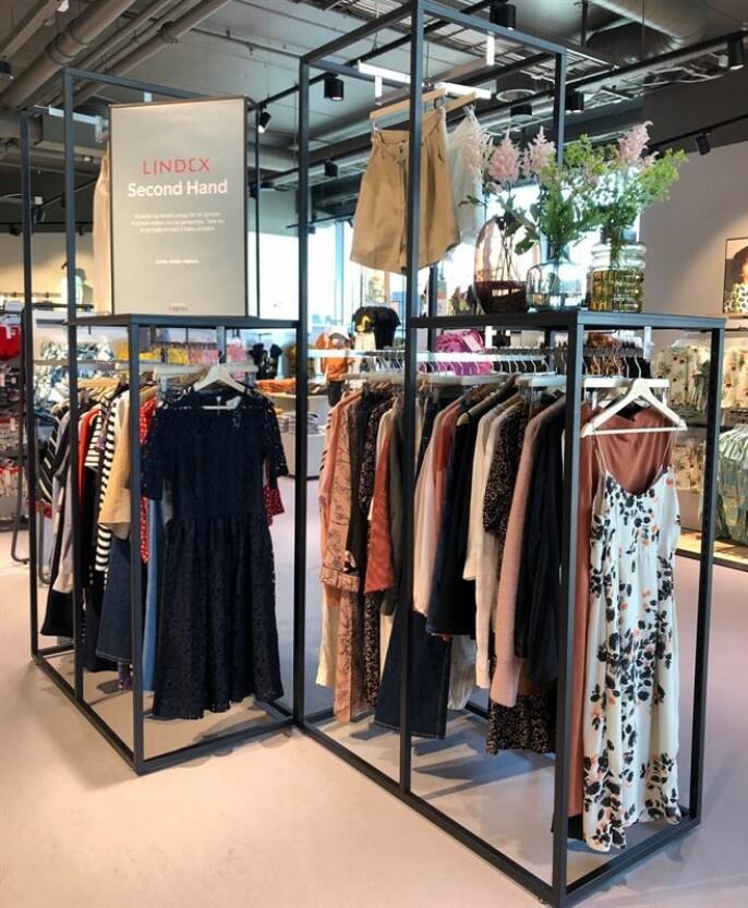 Egen avdeling for brukte klær i den nye Lindex-butikken i Oslo
