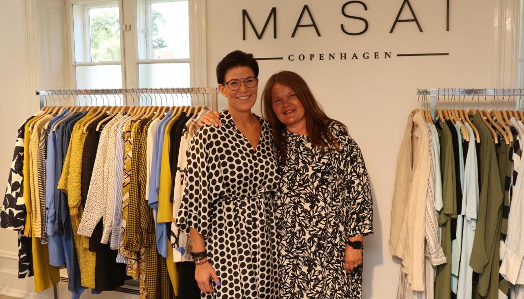 Diana Obst og Niina Hennig på plass i Maridalsveien 87.