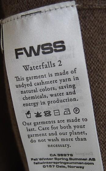 FWSS, som er et av merkene i Steen & Strøms norske design butikk, går nye veier med å informere om hvilke grep de tar innen bærekraft.