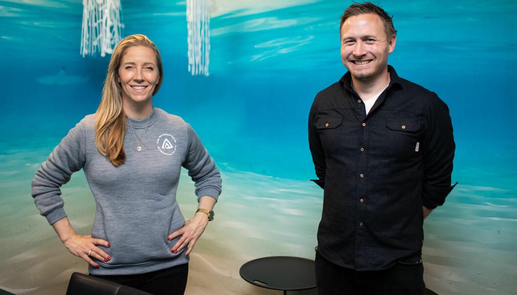 REV Oceans konsernsjef Nina Jensen og Aclimas markedssjef, Ole Magnus Halvorsen