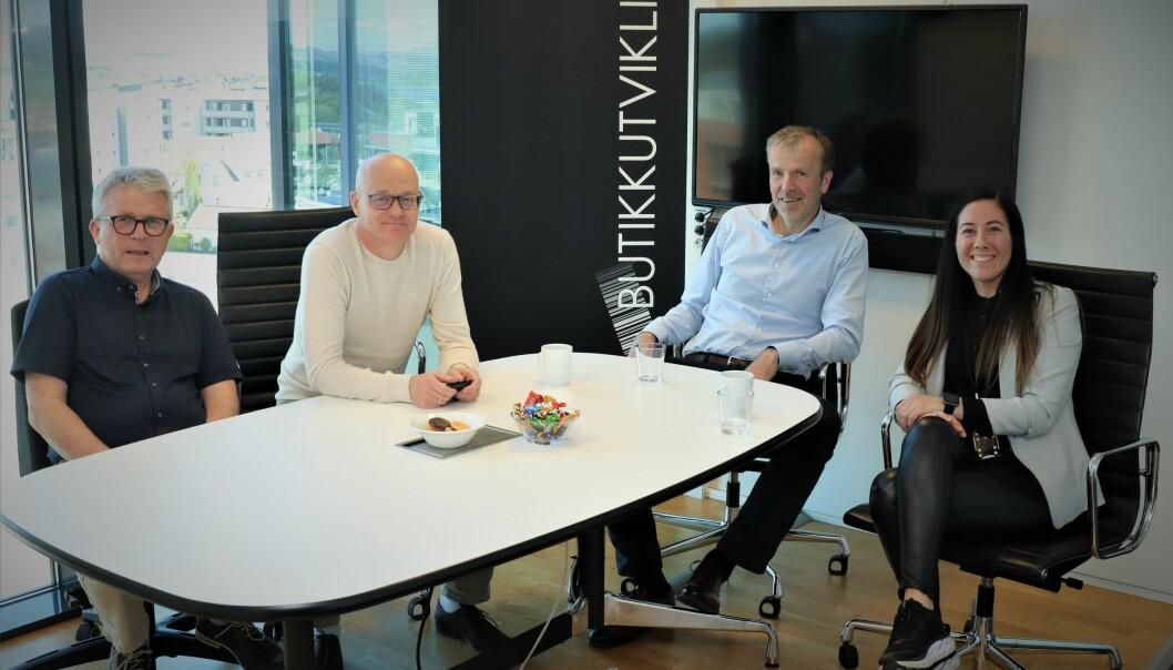 De fire medarbeiderne i Butikkutvikling: Kjetil Selvåg, Ernst Kåre Dybing, Lars Helgeland og Anita Olsen